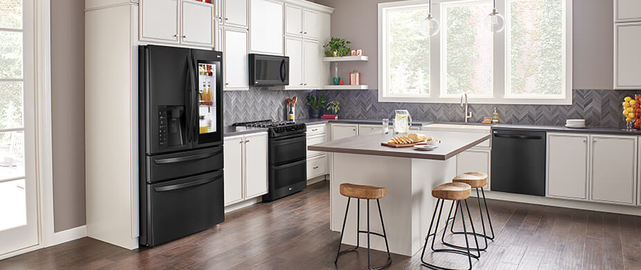LG Matte Black Stainless Steel Kitchen